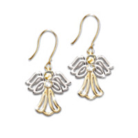 My Dear Granddaughter Angel Earrings