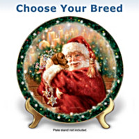 A Christmas Wish Come True Dog Plate