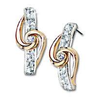 Lover's Knot Diamond Earrings