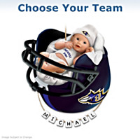NFL Personalized Baby's Christmas Ornament