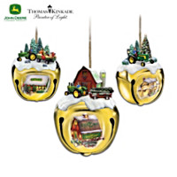 John Deere & Thomas Kinkade Ornament Set: Set One