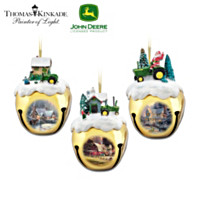 John Deere & Thomas Kinkade Ornament Set: Set Three