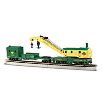 HO Scale Reading RR 250-Ton Steam Crane & Boom Tender