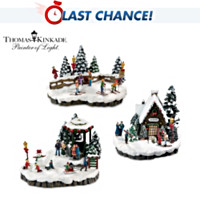 Thomas Kinkade Mistletoe Mountain Village Accessory Set