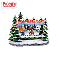 Rudolph's Christmas Town Billboard Village Accessory
