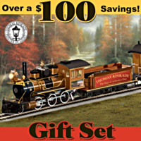 Thomas Kinkade End Of A Perfect Day Express Train Set
