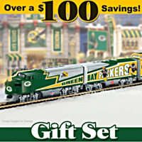 Green Bay Packers Express Train Set