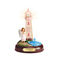 Strength Breast Cancer Awareness Lighthouse Sculpture