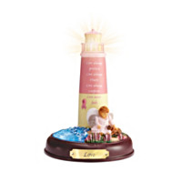 Love Breast Cancer Awareness Lighthouse Sculpture
