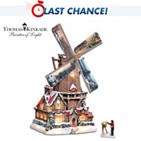 Thomas Kinkade The Olde Mill At Christmas Sculpture