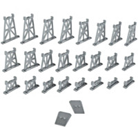 16-Piece Graduated Pier Set Train Accessory