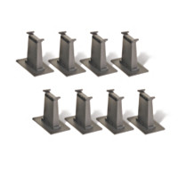 8-Piece N-Scale All Tall Pier Set Train Accessory