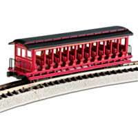 Open-Sided Excursion N-Scale Train Car
