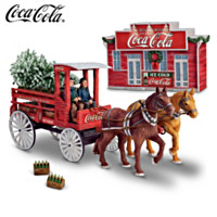 COCA-COLA Delivery Wagon 125th Anniversary Sculpture
