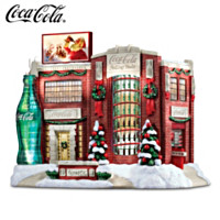 COCA-COLA Holiday Bottling Works Village Sculpture