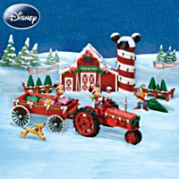 Bringing Home The Tree With Mickey Mouse Sculpture Set