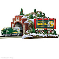 Packers Christmas Mountain Tunnel Train Accessory