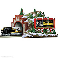 Steelers Christmas Mountain Tunnel Train Accessory