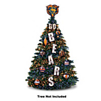 Chicago Bears Outdoor Pre-Lit Christmas Tree