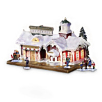 Village Christmas Musical Train Station Train Accessory