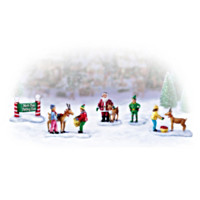 North Pole Petting Zoo Village Accessory Set