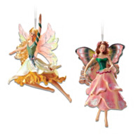 Jonquilla Daffodil & Angelique Tulip Fairy Ornament Set