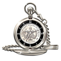 Civil War Half Dollar Men's Watch