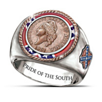 1861 Confederate Cent Men's Ring
