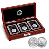The Walking Liberty Silver Half Dollar Mint Mark Coin Set