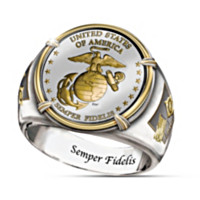 The USMC Commemorative Proof Men's Ring