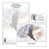 God Bless America Personalized Stationery