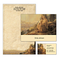 Jesus, Light Of The World Personalized Stationery