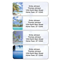 Tropical Paradise Address Labels