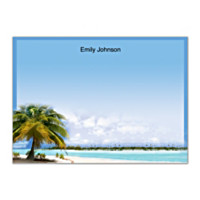 Tropical Paradise Flat Note Cards