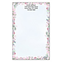 Lena Liu's Floral Borders Large Note Pads