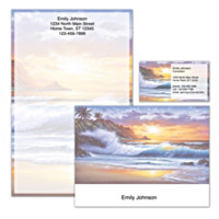 Hawaiian Sunsets Personalized Stationery