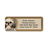 Faithful Friends - Shih Tzu Address Labels