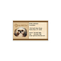 Faithful Friends - Shih Tzu Social Calling Cards