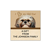 Faithful Friends - Shih Tzu Square Labels