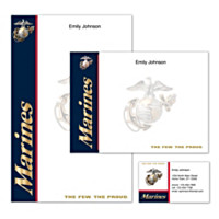 U.S. Marines Personalized Stationery