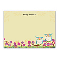 Challis & Roos Awesome Owls Flat Note Cards