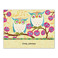 Challis & Roos Awesome Owls Folded Note Cards