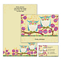 Challis & Roos Awesome Owls Personalized Stationery