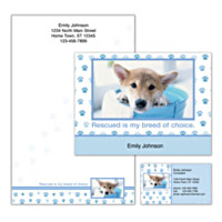 Rescued Is My Breed Of Choice Personalized Stationery