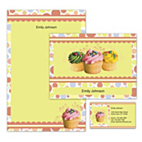 Cupcake Craze Personalized Stationery