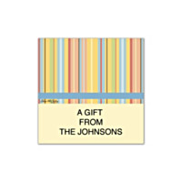 Stripes Square Labels