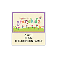 Grandkids Rule! Square Labels