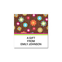 Floral Fun Square Labels