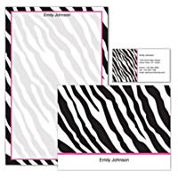 Fashion Safari Personalized Stationery