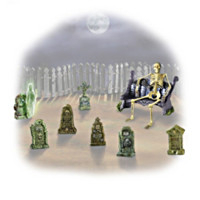 Ghoulish Gravestones Figurine Set